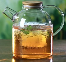 1PC 1000ml 1600ml Heat Resistan Glass Teapot Simple Kettle Tea Pot Convenient Office Coffee JM 1007