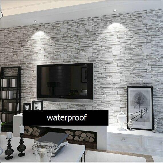 Moderne Style 3D Papier Peint Pierre Brique Conception Mur De Fond Papier  Peint PVC Imperméable Papel