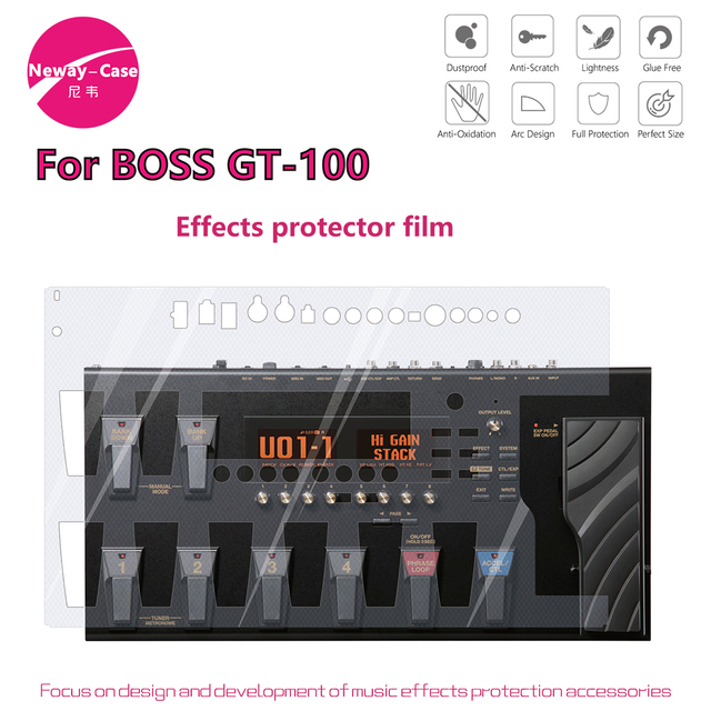 Neway Case Electric Guitar Multi Effect Protector Film for BOSS GT 100 Guitar Pedal Effects Accessories