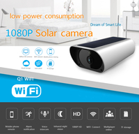 K55B Solar Energy WiFi Wireless IP Camera IP67 2.0MP 1080P HD Security Surveillance Remote Audio Night Vision Motion Detection