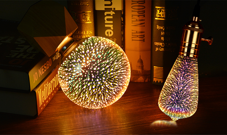 3D Star Fireworks Effect Night light LED Lamp For Home Decoration