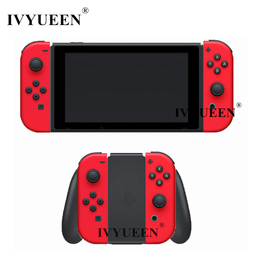 IVYUEEN for Nintend Switch Joy-Con Red Shell Case for JoyCon Controller Replacement Housing Cover Skin with Middle Frame ivyueen green pink red housing replacement cover for nintend switch ns joy con shell joy cons controller case game accessories