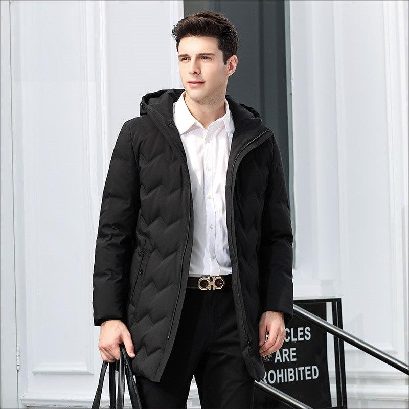 DZYS Men's 90% Duck   Down   Jacket Warm   Down     Coat   Hooded for Men Male 8821