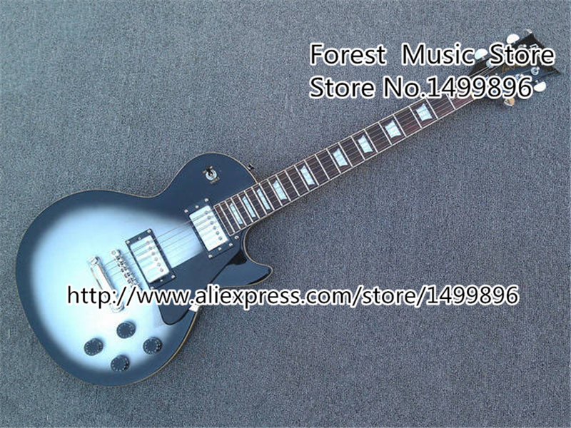New Brand Vintage Silver Dust Guitar Body LP Custom Electric Guitars China Left Hnaded available high quality custom shop lp jazz hollow body electric guitar vibrato system rosewood fingerboard mahogany body guitar