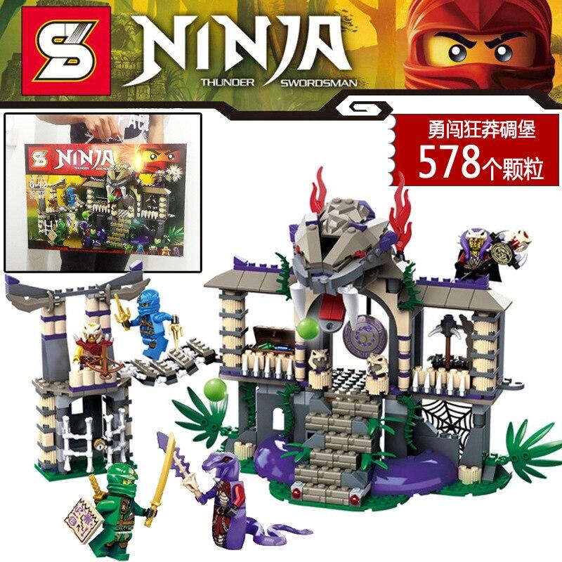 ФОТО SY339  Phantom Ninja Enter The Serpent  Thunder Sworosman Assemble  Figures Building Blocks Children Toy baby toys