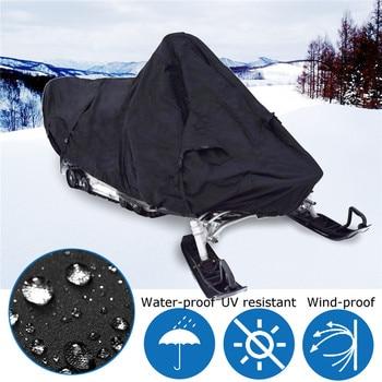 9a19b1bc7a Moto de nieve cubierta de polvo impermeable Trailerable motos de nieve  130x51x48 cm moto UV Protector de lluvia al aire libre cubierta negro  Universal