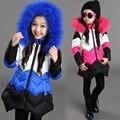 2016 Meninas de Inverno Casaco Fashion Engrossar Zipper Jaqueta Casaco para As Meninas Outwear Casacos de Inverno de Algodão Meninas Infantil Da Criança Do Bebê