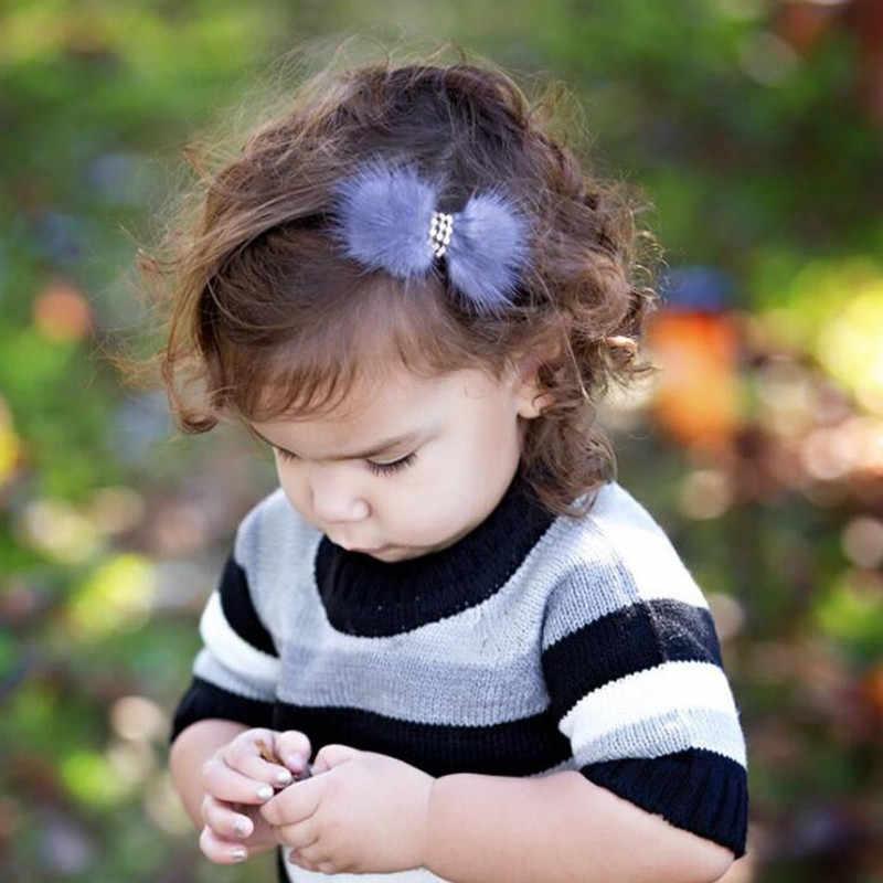 Реквизит для фотографии новорожденных для маленьких мальчиков из искусственного меха для девочек повязка на голову для фотосъемки новорожденных лук Хаар Аксессуары фон для фотографирования малышей