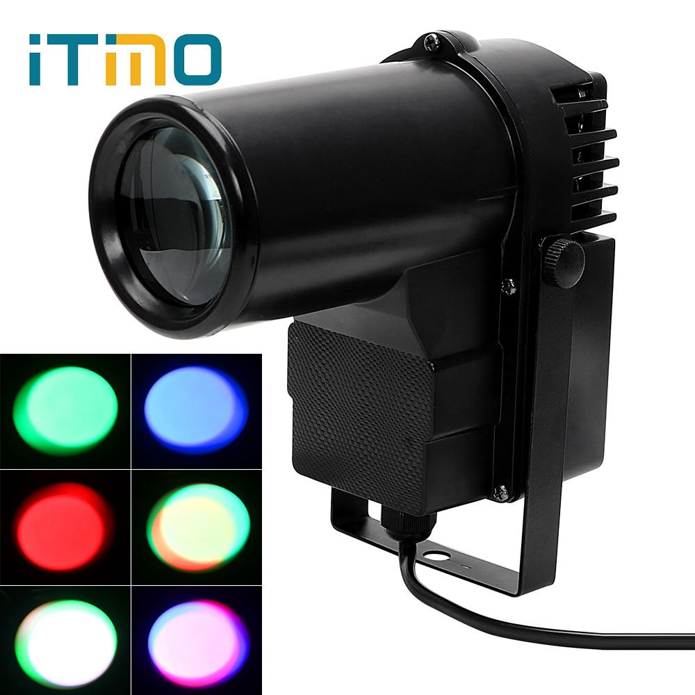 ITimo DMX Spotlight Projector Lamp RGBW 10W Bar DISCO KTV DJ Stage Lighting Effect Pinspot Light Beam AC90-240V LED Stage Light