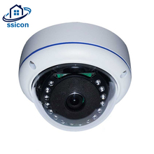SSICON 4MP Security Camera AHD 1.7mm Lens Vandalproof 180 Degree View IR Distance 20M Metal Dome Fisheye Analog Camera