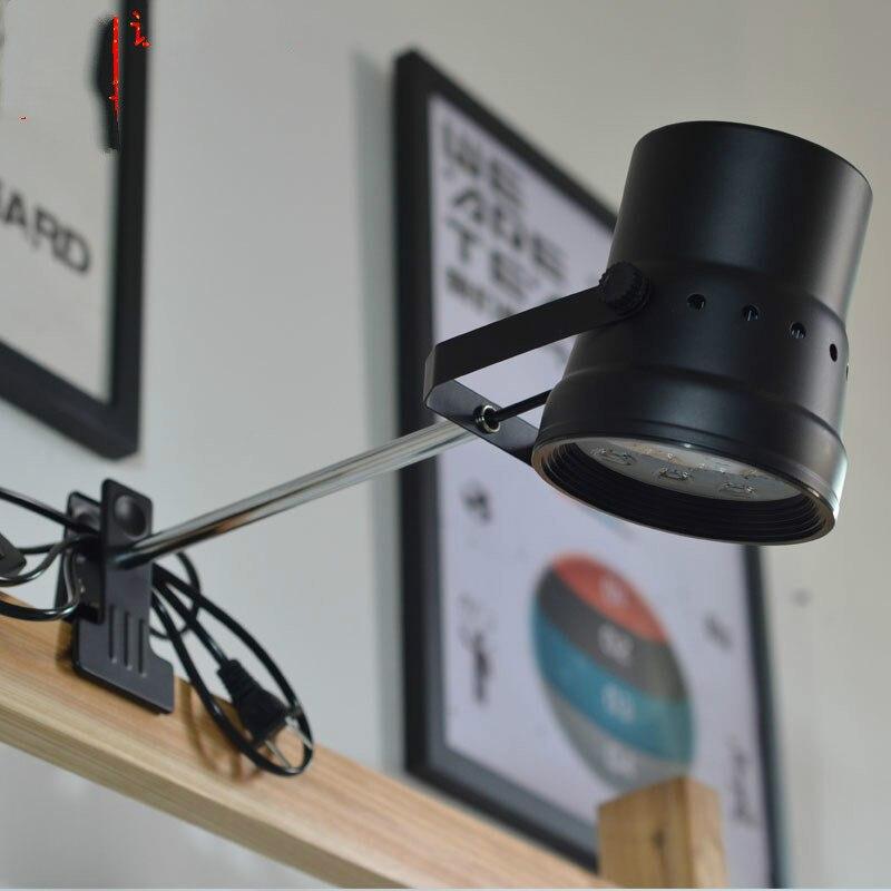 Clip lantern LED table lamps exhibition spotlight 12W pole spotlight led exhibition arm clip study bedroom spotlight ZA428711 цена 2017