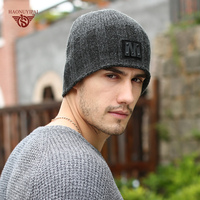 High Quality Plus Cashmere Winter Skullies Beanies For Men Women Letter M Brand Casual Warm Hat Keep Warm Acrylic Knited Hat