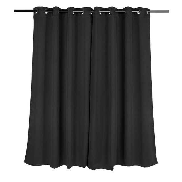 Window Curtain Black 2 Panel Set 52 by 63 Inches Bedroom