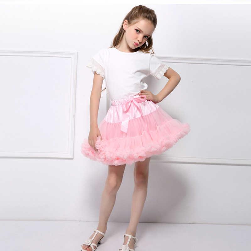 ddd243d07 Girls Tutu Skirt Ballerina Layer Fluffy Children Ballet Skirts For Party  Dance Princess Girl Tulle Miniskirt