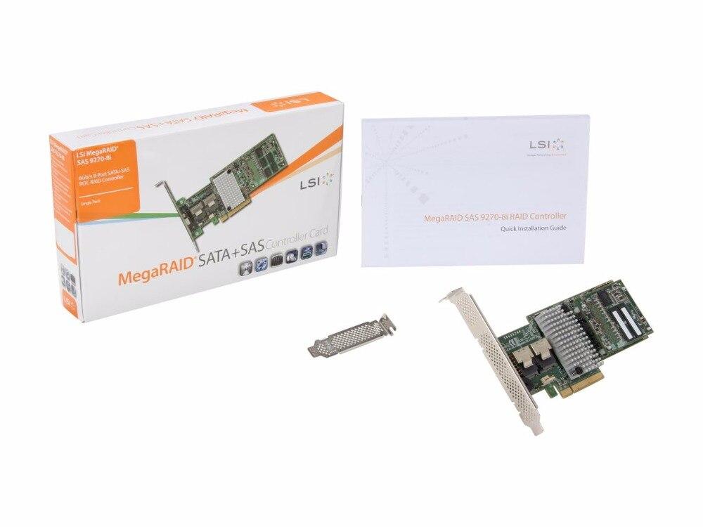 US $260 0  LSI MegaRAID LSI00326 (9270 8i) PCI Express 3 0 x8 Low Profile  SATA / SAS RAID Controller Single Avago Technologies-in Fiber Optic