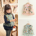 New Fashion Baby Girl Vest Floral outerwear girls waistcoat designer kids vest girl's jacket for autumn winter