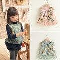 Nova moda bebé Vest Floral casacos meninas colete designer miúdos colete jaqueta da menina para o outono inverno