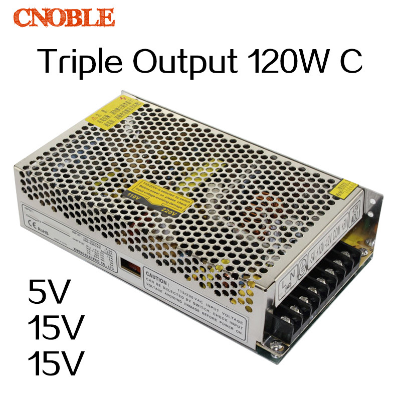 T 120W C Triple output 5V 15V -15V Switching power supply smps AC to DC 60w quad output 5v 15v 5 15v switching power supply ac to dc