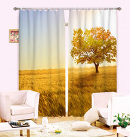 2 Panles Set Tree Style Modern Luxury 3D Curtains For Bedroom Living Room Office Hotel