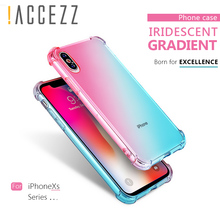 !ACCEZZ Soft TPU Phone Case For iphone XS MAX XR 3D Colourful Thin Protective Back Cover Apple Shell Cases