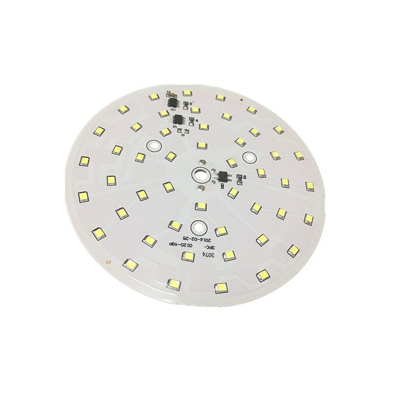5pcs LED PCB plate AC220V Lamp 2835SMD Chip Smart IC flush light panel 18W Module bulb spotlight White 6000-6500K Free shipping