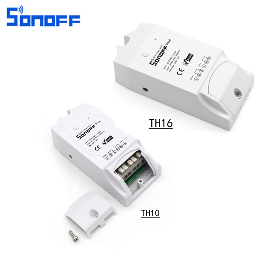 Sonoff TH10 T16 WiFi Maison Intelligente À Distance Contrôleur DIY Sans Fil Température Et Humidité Module de Thermostat Entièrement Automatique Mode