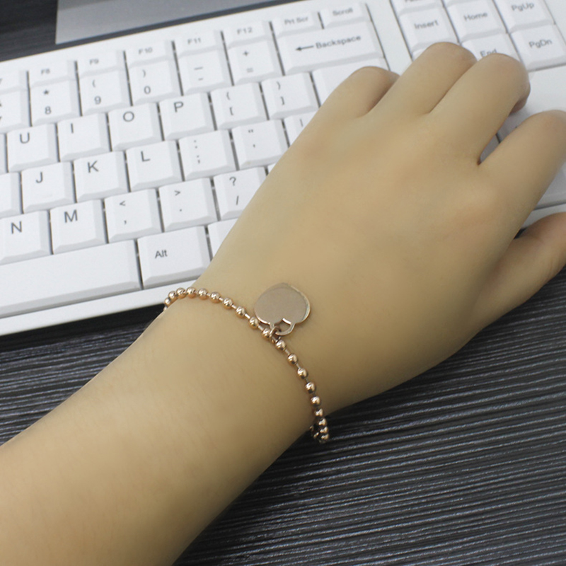 1 pcs Women Jewelry Stainless Steel Bracelet With Heart Style