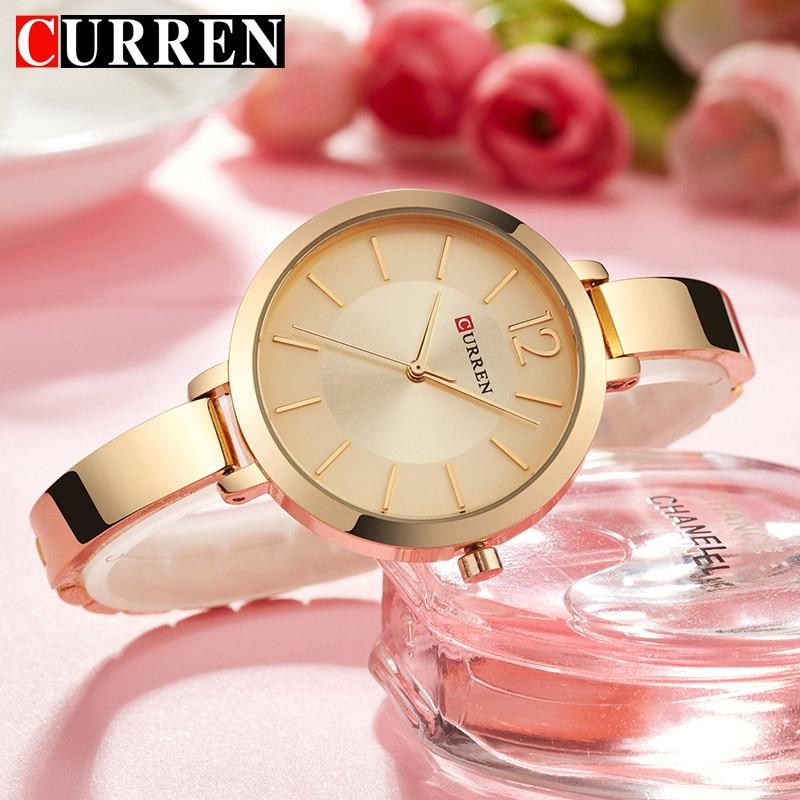 CURREN New Creative Design Quartz Watch Women Casual Fashion Stylish Ladies Gift Wrist Watch Vintage Timepieces Relogio Feminino