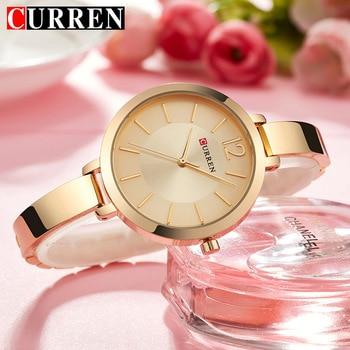 CURREN New Creative Design Quartz Watch Women Casual Fashion Stylish Ladies Gift Wrist Watch Vintage Timepieces relogio feminino дамски часовници розово злато