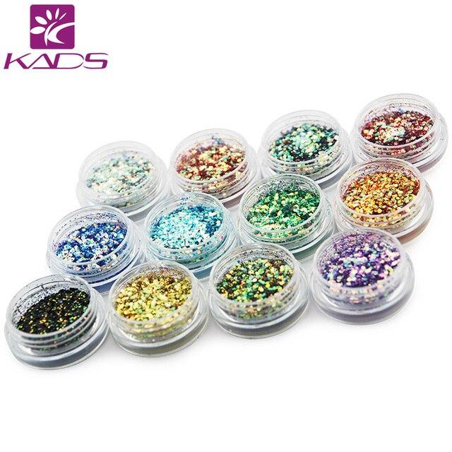 2015 NEW 12pot/set MIX size High Gloss Nail Powder,Glitter Acrylic Powder Dust Nail Art Tip Decoration Make Up 12 Color