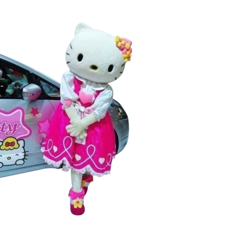 High quality of Hello Kitty Mascot cosplay Costume Hello Kitty Mascot costume, Terms head, No cardboard Free shipping