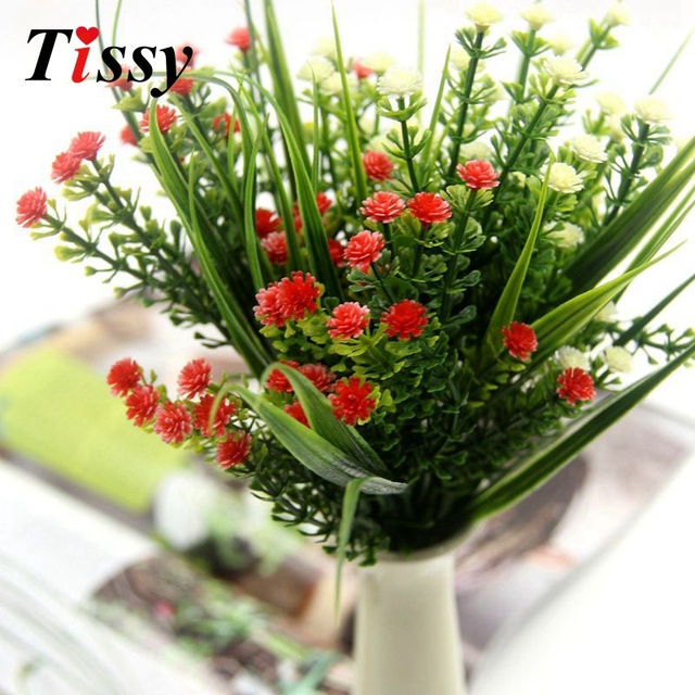 1pcs high quality small artificial green plants grass fake floral