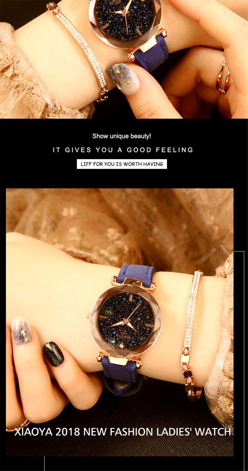 2018 Starry Sky Watch Women Minimalist Top Brand Luxury Wrist Watch For Ladies Female Clock Damski Montre Femme (14)