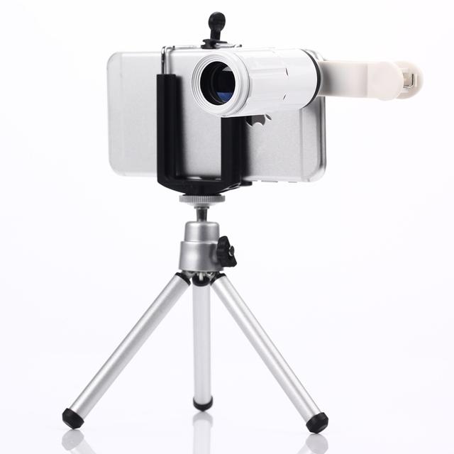 Telescopio 8X de Zoom de la Lente Teleobjetivo Lentes de Teléfono Móvil Teléfono Celular lente para iphone 6 5 5c 5s samsung cámara digital Universal