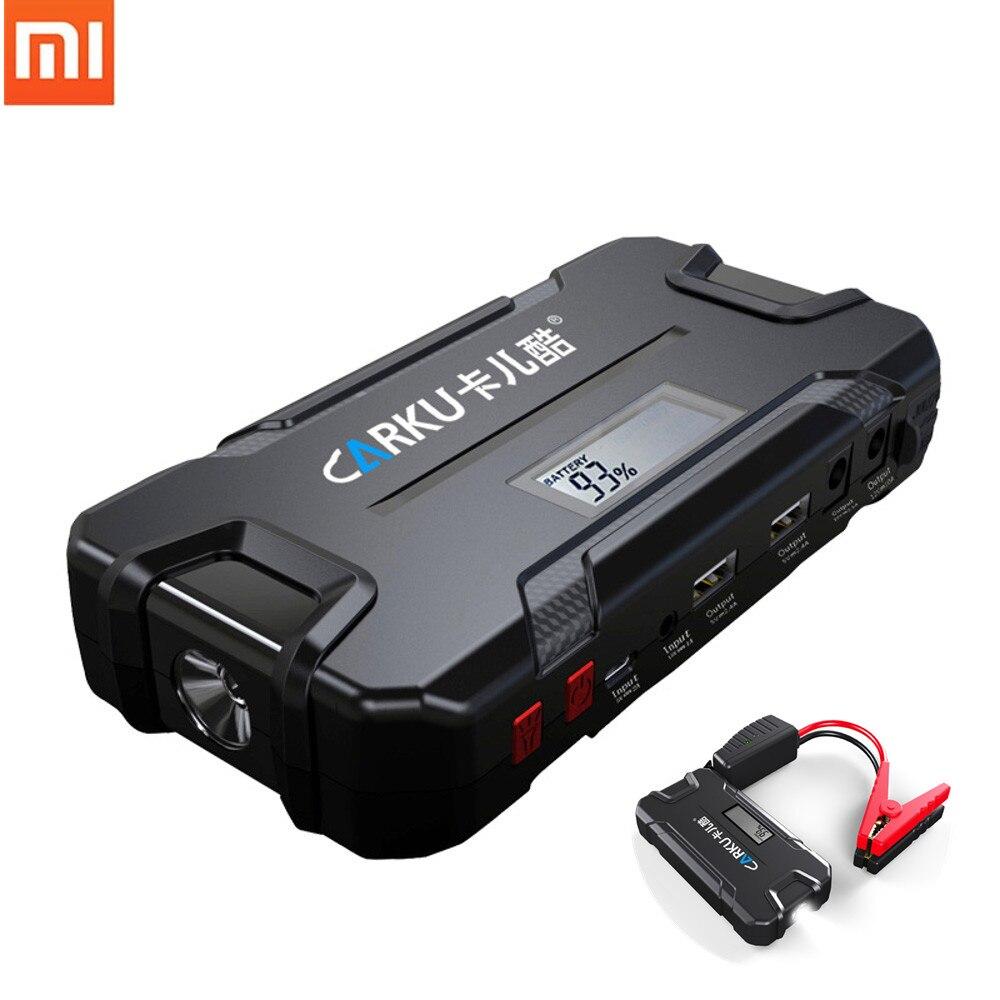 XIAOMI CARKU 12V 12000mAh Car Jump Starter Emergency Battery Booster LED Flashlight QC3.0 Dual USB Battery Charger Power Bank