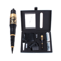 Hot Golden Rotary Dragon Permanent Makeup Machine Kits With Pedal Switch Tattoo Equipment For Eyebrow Eyeliner Lips Cosmetics