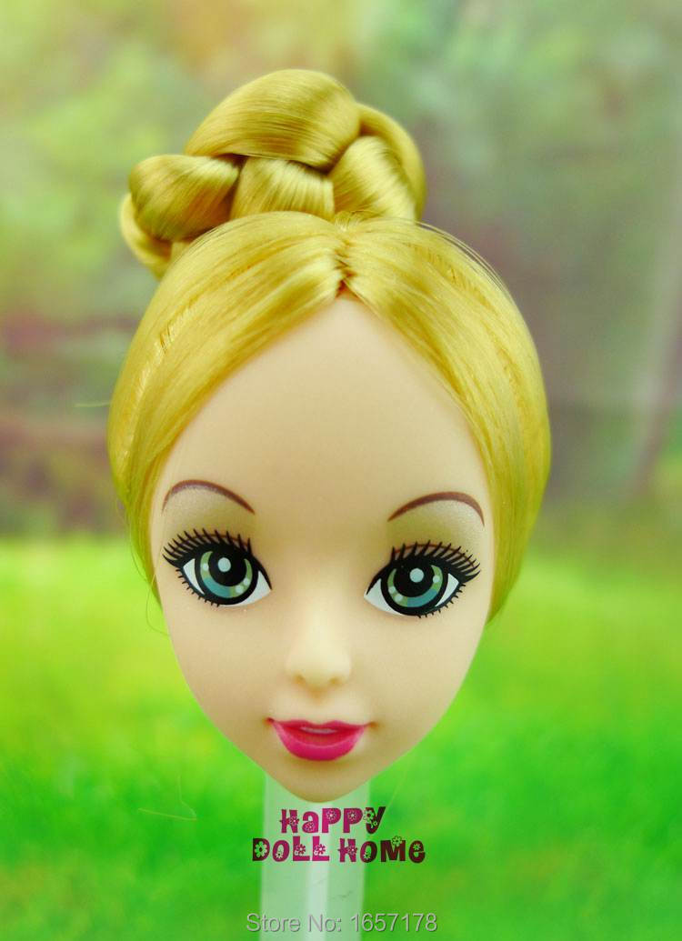 One Pcs Trend Stunning Doll Head Golden Hair DIY Equipment Half For Barbie Kurhn Doll Finest Woman's Present Baby DIY Toys 021A