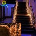 2*0.6 M 60 LEDs Sincelo CONDUZIU a Iluminação Corda Decoração da Festa de Casamento Do Feriado Do Natal Luzes De Fadas Cortina de Luz de Natal AC 220 V