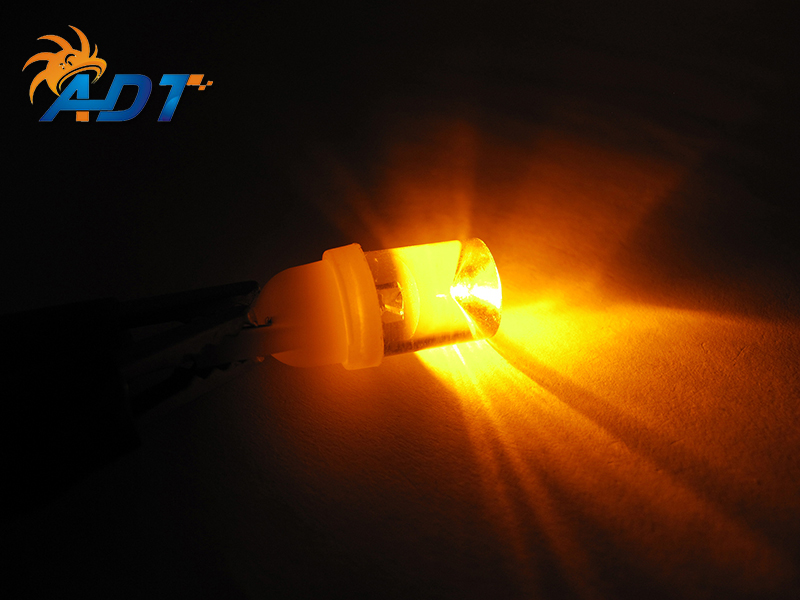 20unit Amber no flicker non ghosting led pinball bulb AC/DC 6.3 volt #555 T10 194 168 Wedge concave lens pinball machine part