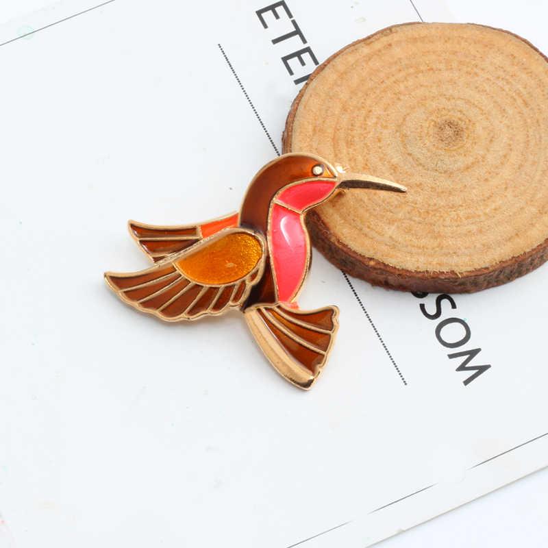 1 Pce Bros Kartun Hewan Lencana Enamel Pin Burung Bros Untuk Wanita Lady Klasik Fashion Aksesoris Sweater Dekorasi Pins