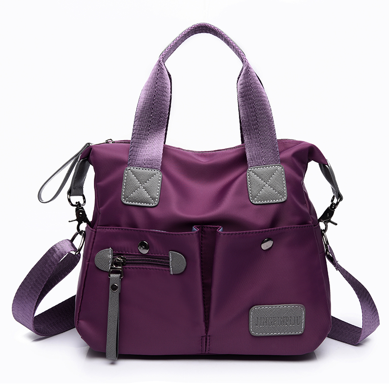 цена на 2018 Waterproof Nylon Women Big Handbag Casual Large Tote Shoulder Bags Ladies Travel sac Luxury Designer Handbags High Quality