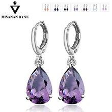 MISANANRYNE Waterdrop CZ Zircon Jewelry Long Silver-Color Dangle Earrings  Brincos Pendiente For Women Gifts ef063413b83e