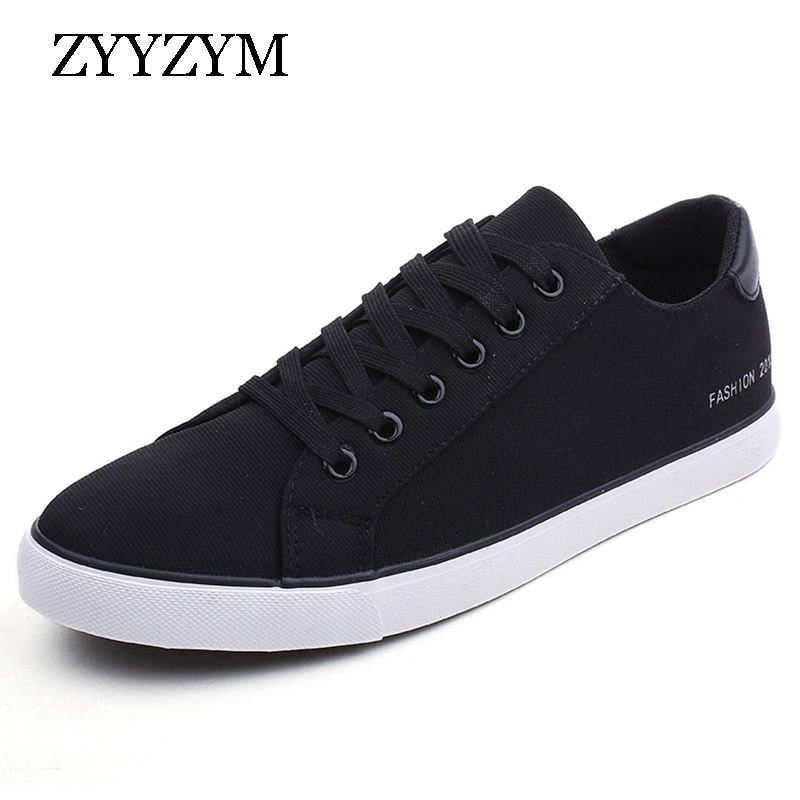 0700d1c466 ZYYZYM Men Canvas Shoes Lace-Up Style Breathable Fashion Sneakers Striding Casual  Shoes For Man 2018