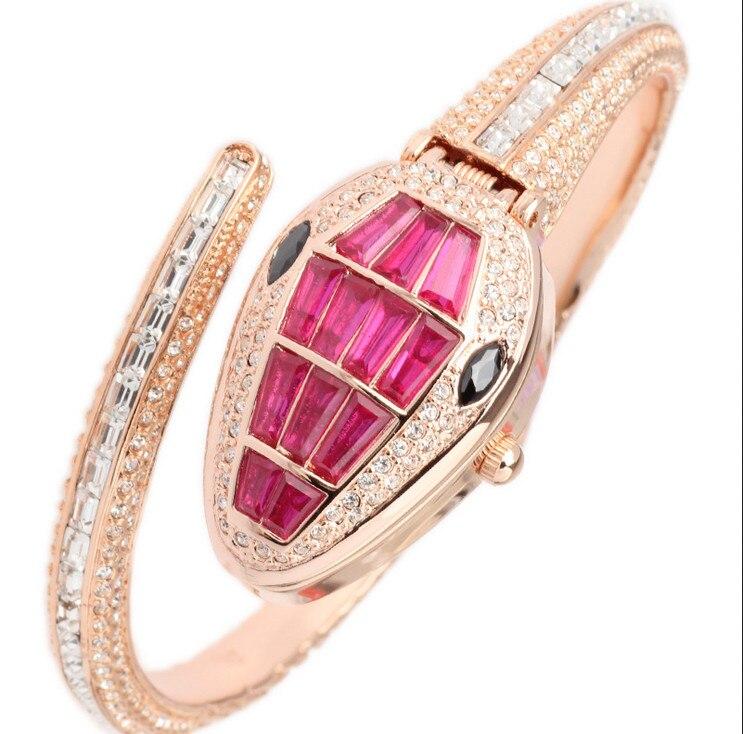 все цены на Cool Snake Watches Original MELISSA High Quality Rhinestone Women Party Dress Wristwatch Quartz Relogios 3ATM Montre Femme F8068 онлайн