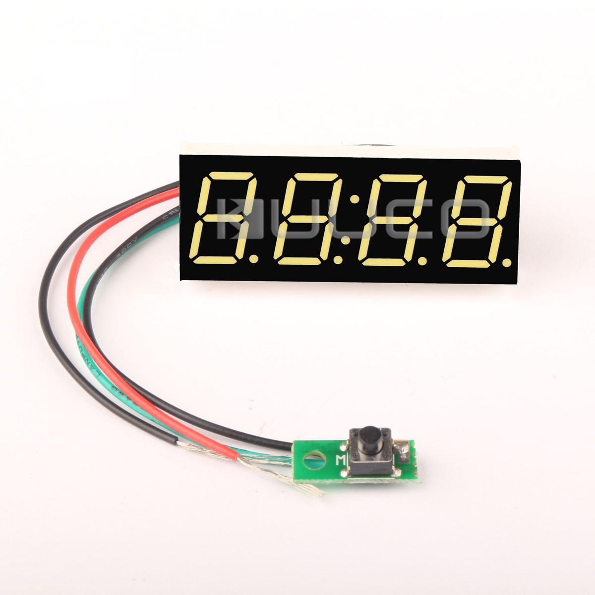 Digital Clock 0.56 White LED 24 Hour Mode Clock DC 12V 24V Car /Motorcycle Digital Electric Clock clock