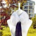 Envío gratis 2014 invierno moda cálida fox natural Fur collar hombres y mujeres bufanda de la piel falso cuello de piel de mapache cuello de piel, cinta