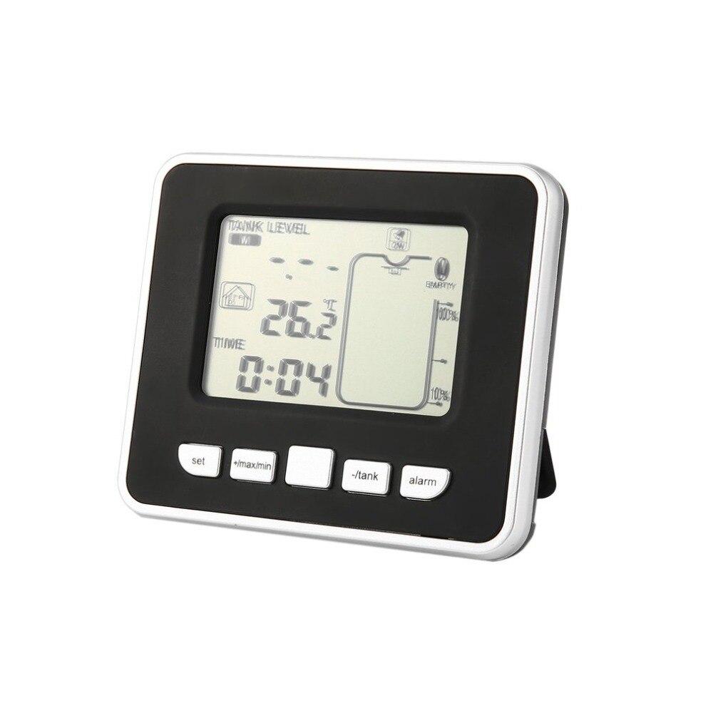 Capteur à ultrasons sans fil réservoir d'eau capteur de niveau de profondeur de liquide avec affichage de la température avec affichage de LED de 3.3 pouces