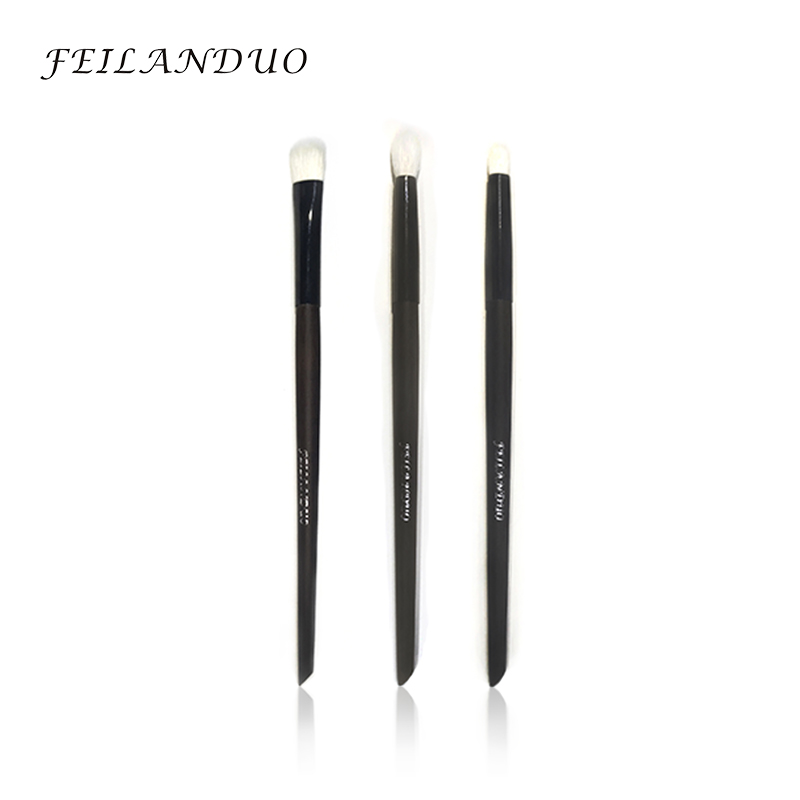 FEILANDUO 3pcs Professional Makeup Brush Set High Quality Goat Wool Makeup Tool Gift with Wash Soap