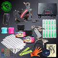 New Design Complete Tattoo kit Lining Machine Tattoo Guns Sets Immortal Ink Disposable Tips Grips Power Supplies
