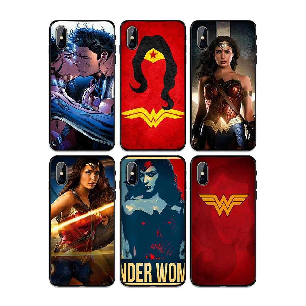 Justice League Wonder Woman กรณี TPU นุ่มสำหรับ iphone ของ Apple iphone 6 6S 7 8 Plus 5 5S SE X XS MAX XR กรณีซิลิโคน
